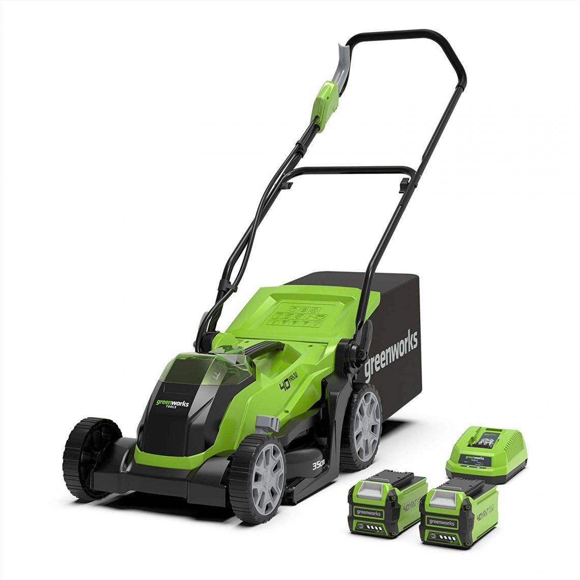 Greenworks Tondeuse à batterie G40LM35K2X