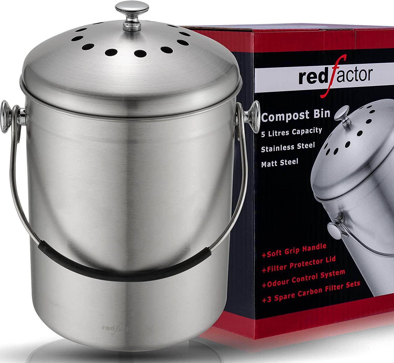 Composteur inodore en acier inoxydable pour cuisine