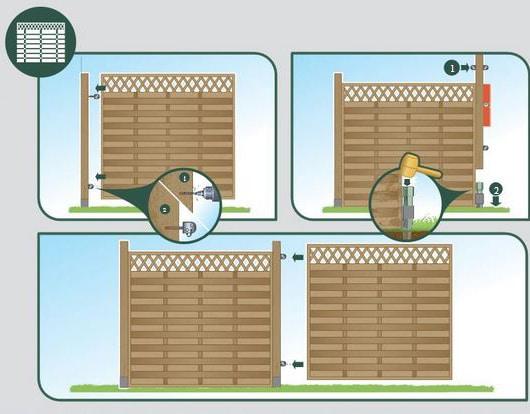 Installation des panneaux de claustra