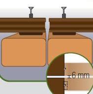 espace entre les lames de terrasse