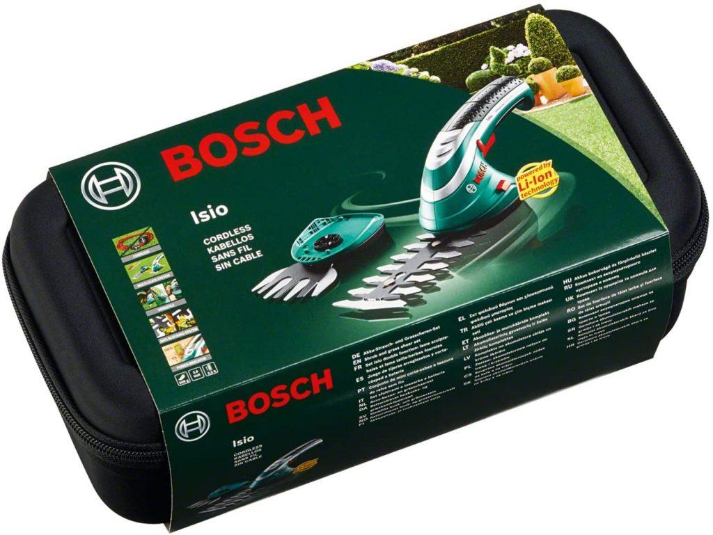 Boite du Set Sculpte-Haies et Taille-Herbes sans fil Bosch - Isio
